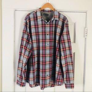 Vince Men's Button-down plaid Shirt XXL